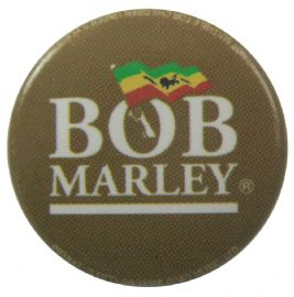 Bob Marley - 'Flag Logo' Button Badge